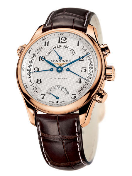 The LONGINES MASTER COLLECTION RETROGRADE EN OR ROSE