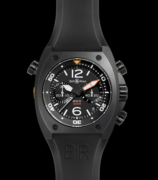 BELL & ROSS INSTRUMENT BR 02 CHRONOGRAPHE - 500 M  Ø 44 mm