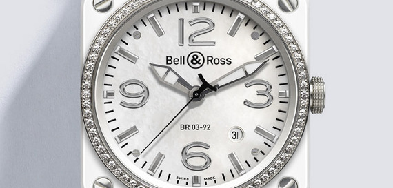 BELL & ROSS INSTRUMENT WHITE CERAMIC