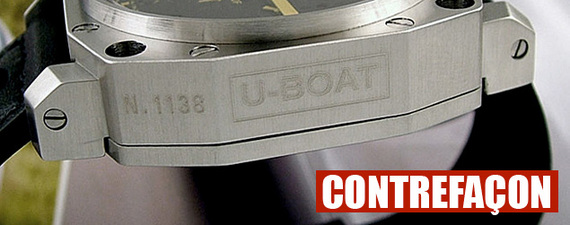 U-BOAT touché par la contrefaçon