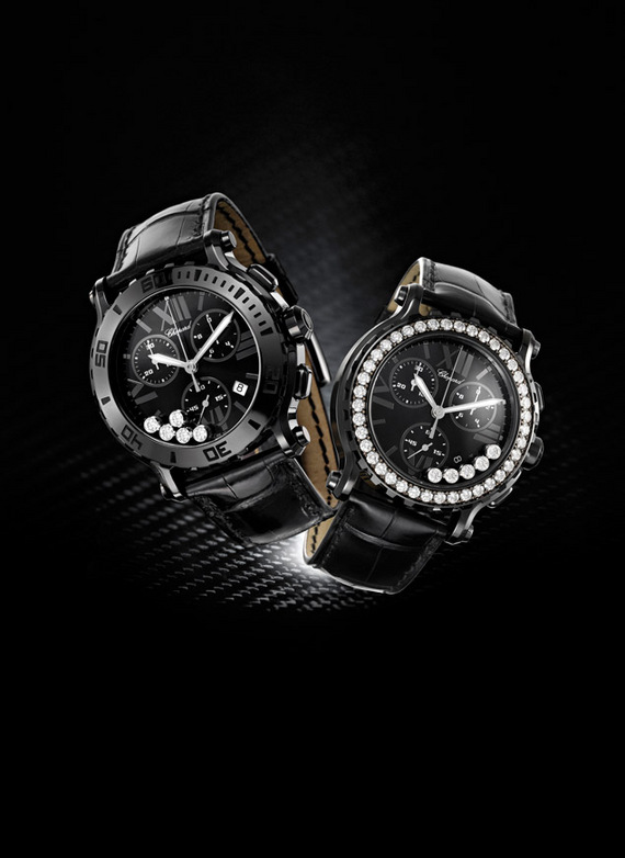 CHOPARD HAPPY SPORT CHRONO MARK II ALL BLACK