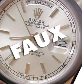 Contrefaçon de montre Rolex Day-Date