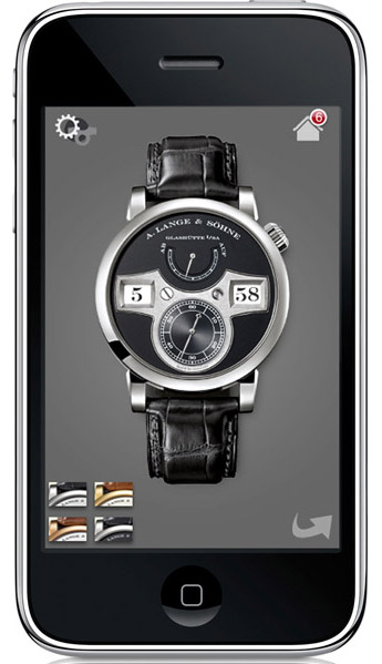 UNE APPLICATION IPHONE POUR LA LANGE ZEITWERK A. LANGE & SOHNE