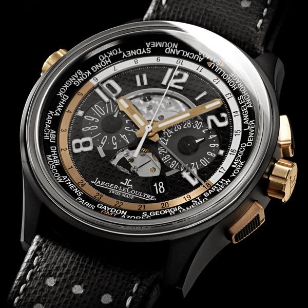 JAEGER LECOULTRE L'AMVOX5 World Chronograph célèbre la cinquième création issue du partenariat entre Jaeger-LeCoultre et Aston Martin.