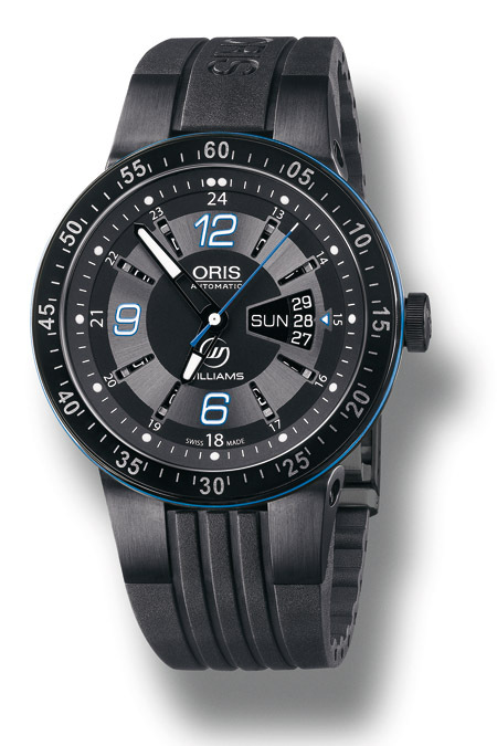 ORIS WILLIAMS F1 TEAM DAY DATE : BLEU BLANC NOIR