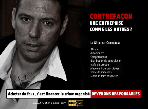 Campagne anti-contrefaçon 2010/2011 - Truetime