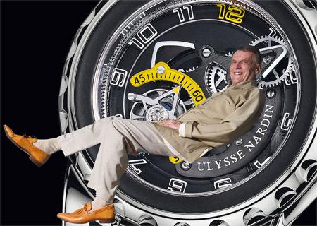 Rolf Schnyder, propriétaire et Président d'Ulysse Nardin, fête 75 années d'aventures.