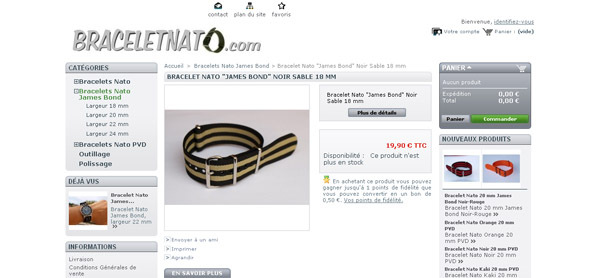 BRACELETNATO.COM : Une boutique en ligne spécialisée....bracelets NATO