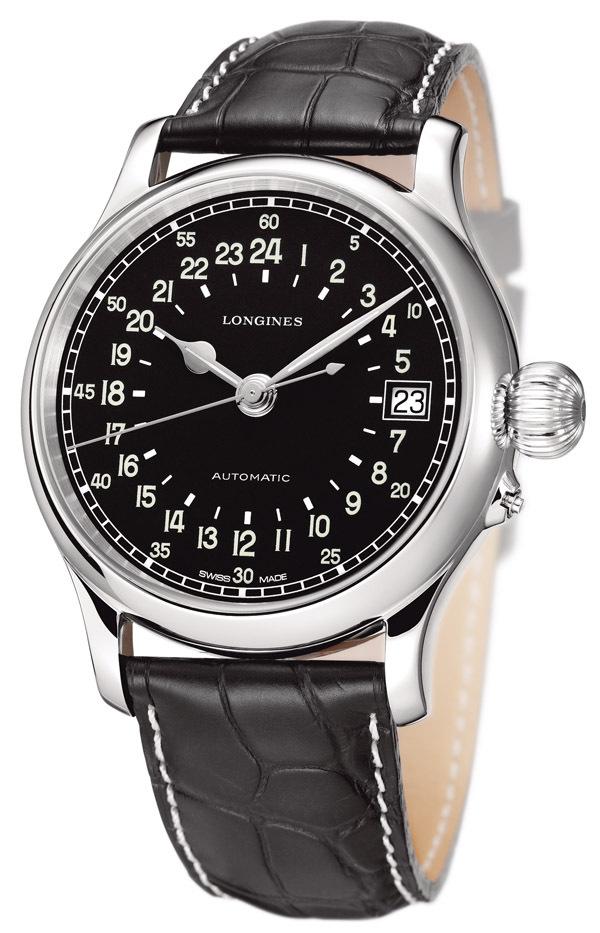 La montre Longines Twenty-Four Hours est équipée du calibre L704.3 à remontage automatique qui permet une révolution de cadran en 24 heures.