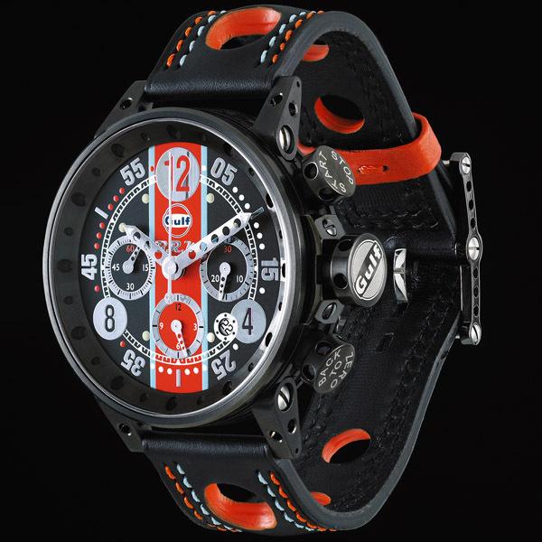 une s rie de montres gulf par brm la montre brm v12 44 gu n ag 1. Black Bedroom Furniture Sets. Home Design Ideas