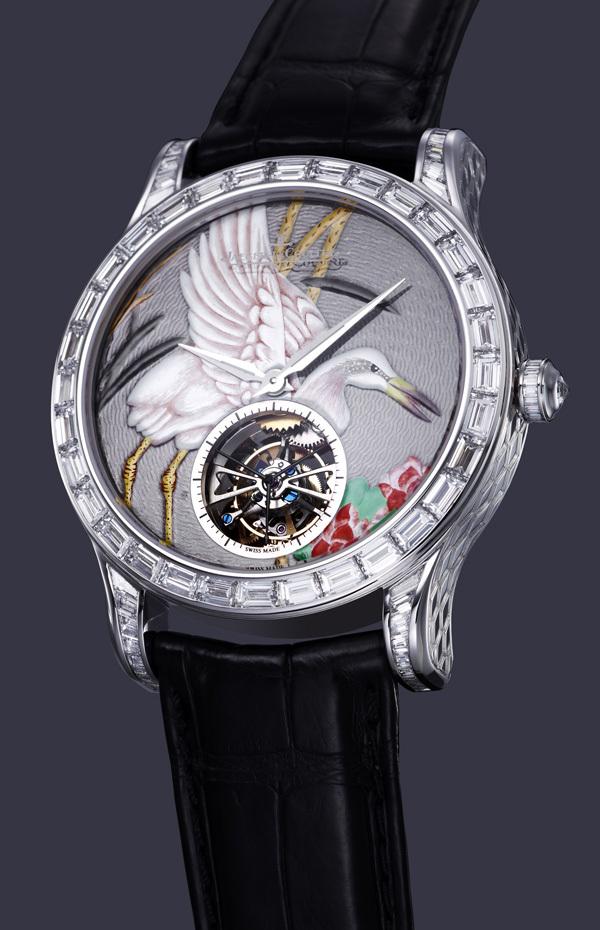 La montre Jaeger Lecoultre Master Grand Tourbillon Email Serti