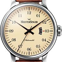 Prix du neuf et tarifs des montres Meistersinger Granmatik 52 mm Cadran Crème