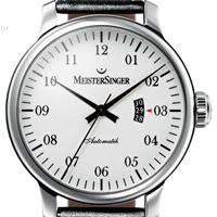 Prix du neuf et tarifs des montres Meistersinger Granmatik 52 mm cadran blanc