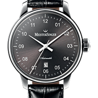 Prix du neuf et tarifs des montres Meistersinger Scrypto Saphir cadran noir