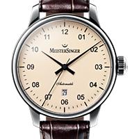 Prix du neuf et tarifs des montres Meistersinger Scrypto Saphir cadran rose