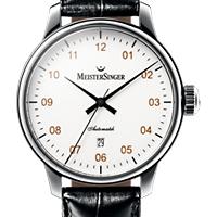 Prix du neuf et tarifs des montres Meistersinger Scrypto Saphir cadran blanc