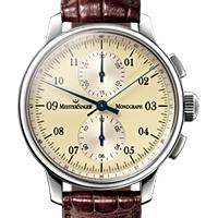 Prix du neuf et tarifs des montres Meistersinger Monograph cadran crème