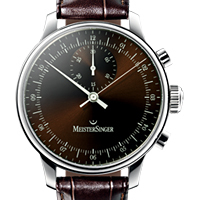 Prix du neuf et tarifs des montres Meistersinger Singular cadran chocolat