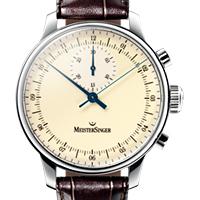 Prix du neuf et tarifs des montres Meistersinger Singular cadran crème