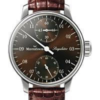 Prix du neuf et tarifs des montres Meistersinger Singulator cadran chocolat