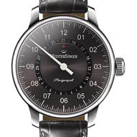 Prix du neuf et tarifs des montres Meistersinger Perigraph cadran gris