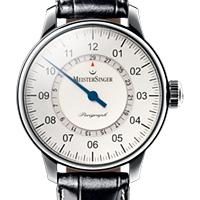 Prix du neuf et tarifs des montres Meistersinger Perigraph cadran blanc
