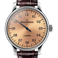 Prix du neuf et tarifs des montres Meistersinger Carelia Nacre cadran cuivre