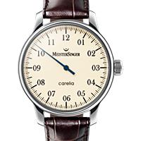 Prix du neuf et tarifs des montres Meistersinger Carelia Nacre cadran crème