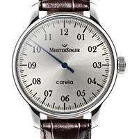 Prix du neuf et tarifs des montres Meistersinger Carelia cadran gris