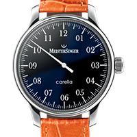Prix du neuf et tarifs des montres Meistersinger Carelia cadran noir