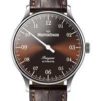 Prix du neuf et tarifs des montres Meistersinger Pangea A. cadran chocolat