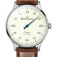 Prix du neuf et tarifs des montres Meistersinger Pangea A. cadran blanc