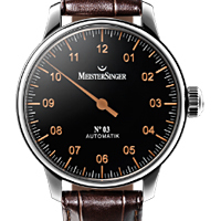 Prix du neuf et tarifs des montres Meistersinger n°03 cadran noir