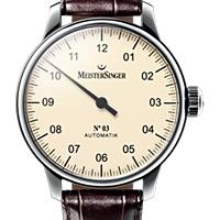 Prix du neuf et tarifs des montres Meistersinger n°03 cadran crème