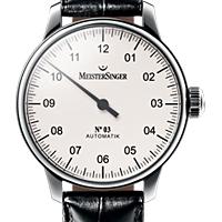 Prix du neuf et tarifs des montres Meistersinger n°03 cadran blanc