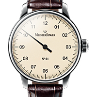 Prix du neuf et tarifs des montres Meistersinger n°01 cadran crème