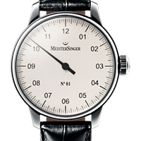 Prix du neuf et tarifs des montres Meistersinger n°01 cadran blanc