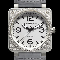 Prix du neuf Bell & Ross BR01-92 Top Diamond White