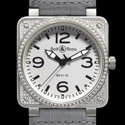 Prix du neuf Bell & Ross BR01-92 Top Diamond White