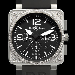 Prix du neuf Bell & Ross BR01-94 Top Diamond Black Dial