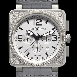 Prix du neuf Bell & Ross BR01-94 Top Diamond White Dial