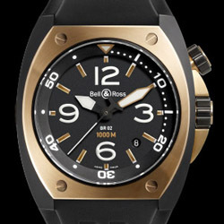Prix du neuf Bell & Ross Pink Gold Carbon Finish