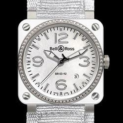 Prix du neuf Bell & Ross BR03-92 White Ceramic & Diamond