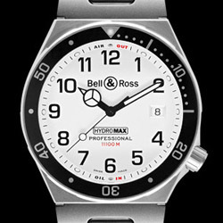 Prix du neuf Bell & Ross Type Professionel Hydromax 11000 m White