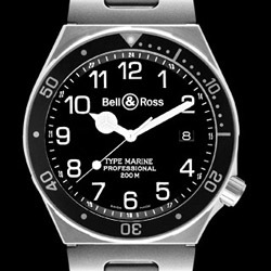 Prix du neuf Bell & Ross Type Professionel Type Marine Black