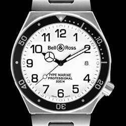 Prix du neuf Bell & Ross Type Professionel Type Marine White