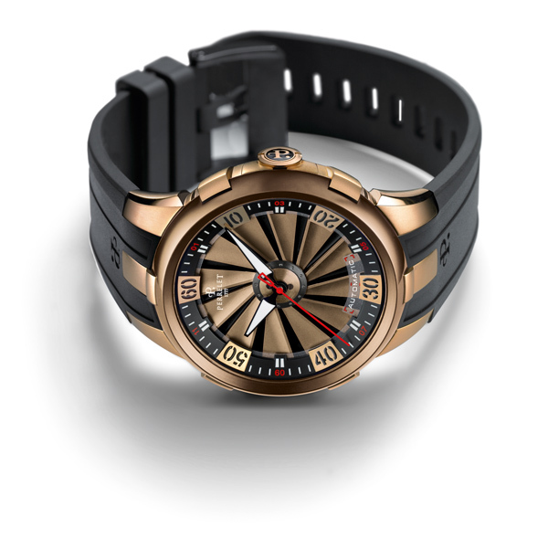 Montre Perrelet Turbine XL Gold Design choc, habit chic