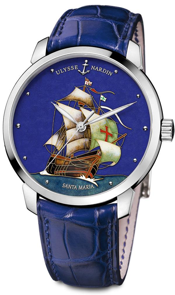 ULYSSE NARDIN : Sur la mer de l'Histoire Classico Limited Edition Santa Maria.