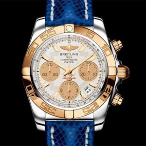 Breitling Chronomat 41 lunette or rose