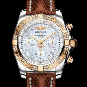 Breitling Chronomat 41 lunette or rose diamants